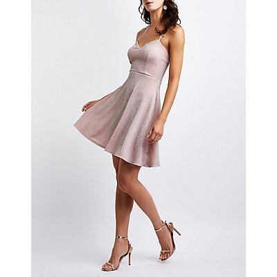 Glitter Skater Dress