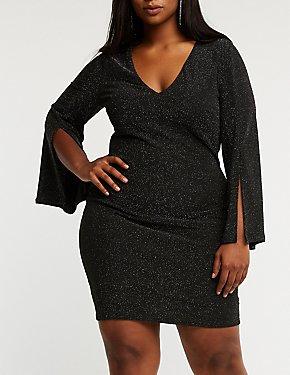 Plus Size Glitter Bodycon Dress