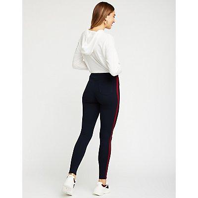 Side Striped Skinny Pants