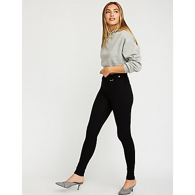Belted Stretchy Leggings