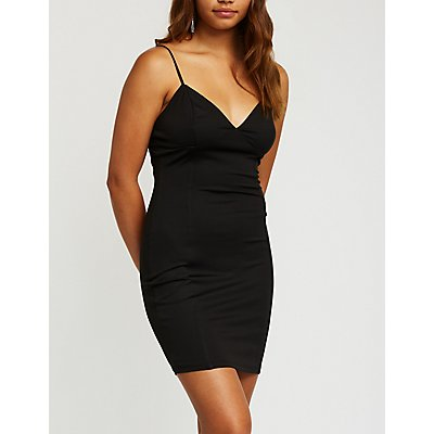 V Neck Bodycon Dress