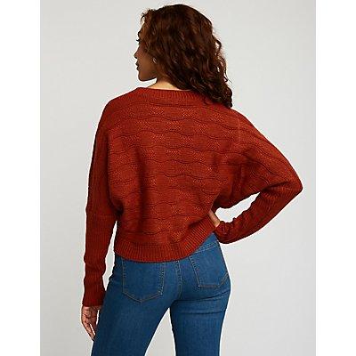 Textured Dolman Sweatshirt