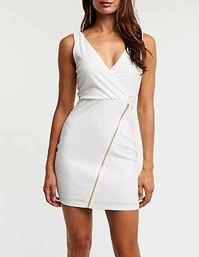 Wrap Asymmetrical Bodycon Dress