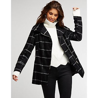 Windowpane Moto Coat