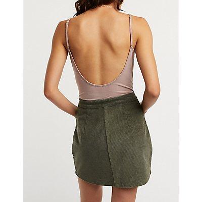 Scoop Neck Open Back Bodysuit