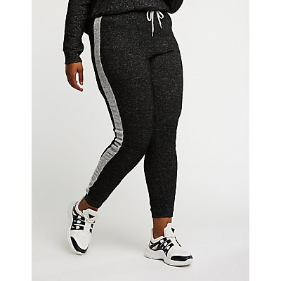 Plus Size Side Stripe Joggers