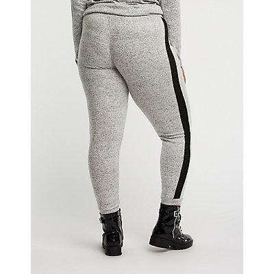 Plus Size Side Stripe Joggers