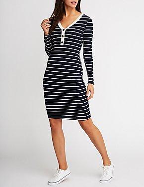 Striped Midi Bodycon Dress