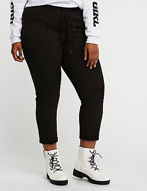 Plus Size Drawstring Trouser Pants