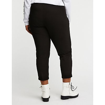 Plus Size Drawstring Trouser Pants