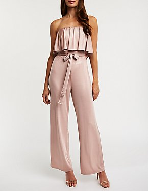Metallic Foldover Jumpsuit