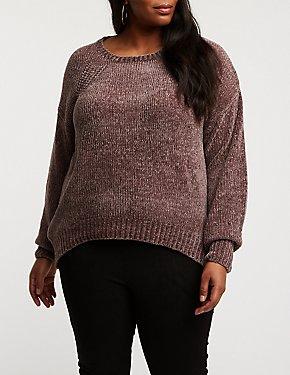 Plus Size Chenille Pullover Sweater