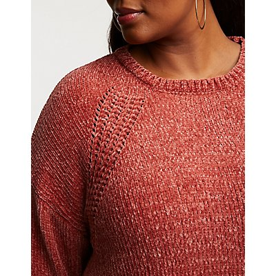 Plus Size Chenille Pullover Sweater