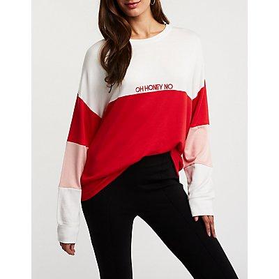 Oh Honey No Colorblock Sweater
