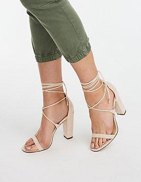 Lace Up Dress Sandals