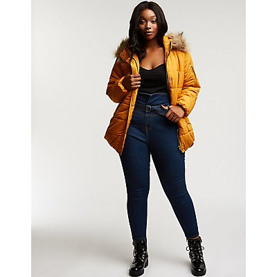Plus Size Paperbag Skinny Jeans