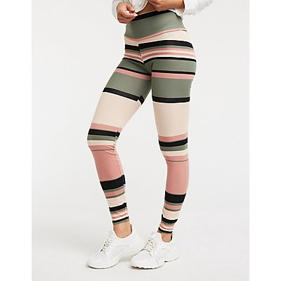 Striped Colorblock Leggings