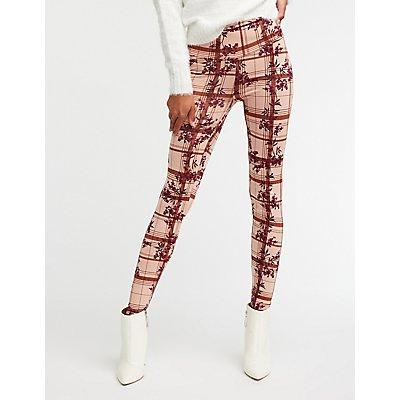 Floral & Plaid Leggings