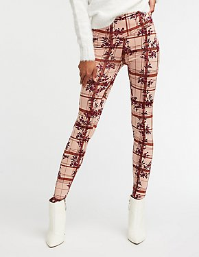 Floral & Plaid Leggings