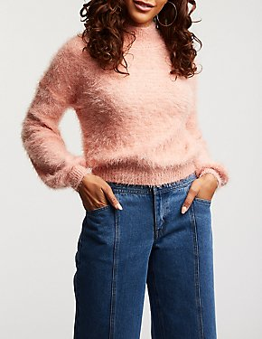 Feathered Pullover Sweater