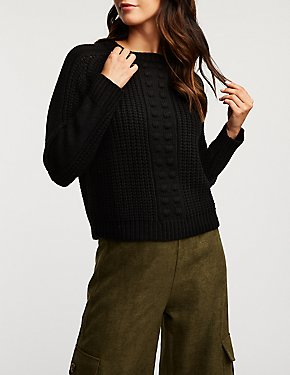 Pom Pom Detailed Pullover Sweater
