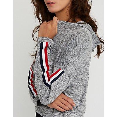 Striped Sleeve Hoodie