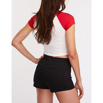 Refuge Hi Waist Shortie Shorts