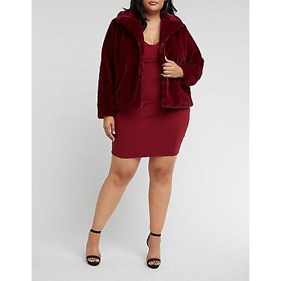 Plus Size Faux Fur Peacoat