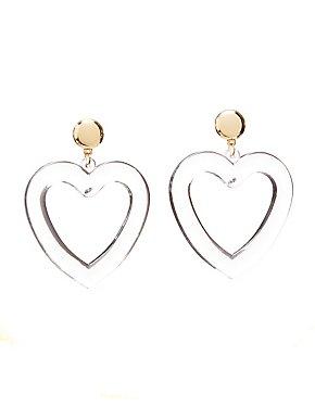 PVC Heart Shaped Hoop Earrings