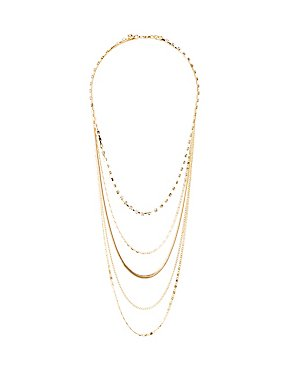 Crystal Chainlink Layered Necklace