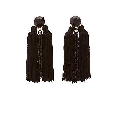 Bead & Fringe Drop Earrings
