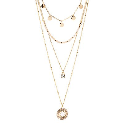 Star Pendant Layering Necklace