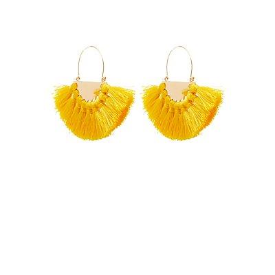Fringe Oval Earrings