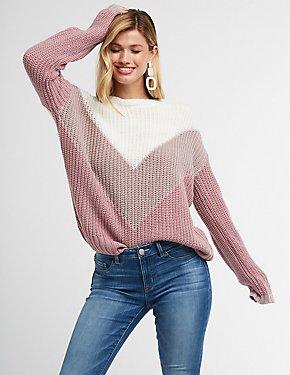 Chevron Pullover Sweater
