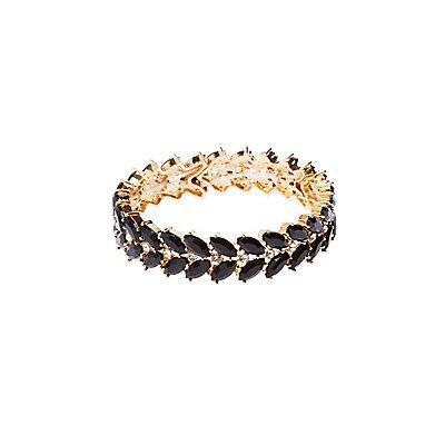 Crystal & Stone Tennis Bracelet