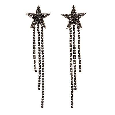 Star Crystal Drop Earrings