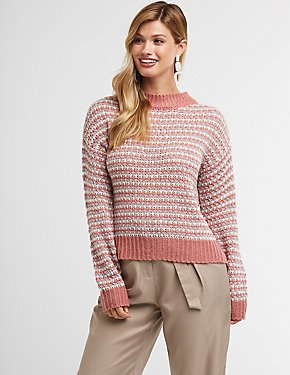 Open Knit Pullover Sweater