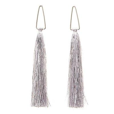 Metallic Fringe Drop Earrings