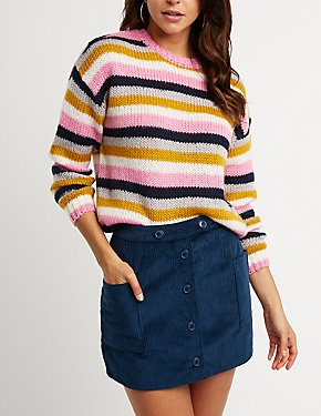 Striped Pullover Sweater