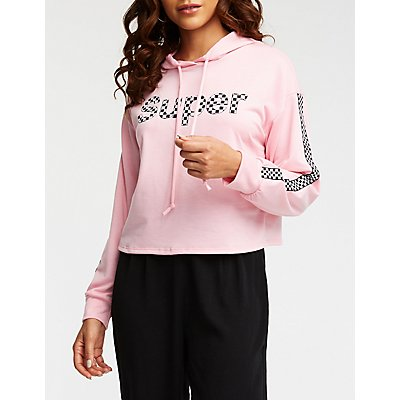 Super Checkered Hooded Sweatshirt