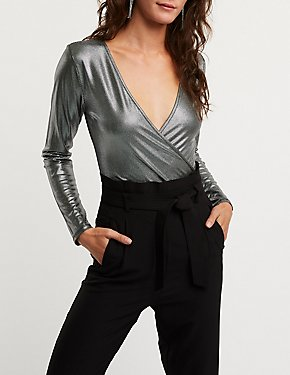 Wrap Metallic Bodysuit
