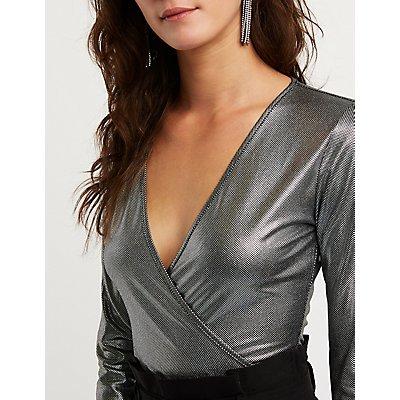 Wrap Metallic Bodysuit