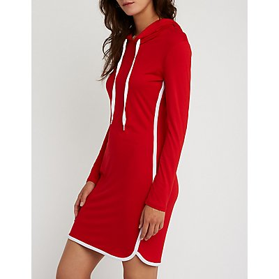 Printed Hooded Bodycon Dress