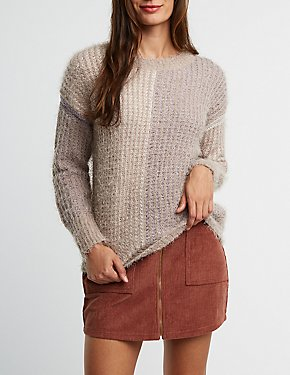 Fuzzy Oversize Pullover Sweater