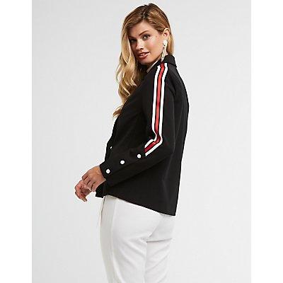 Side Striped Blazer