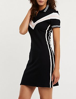 Chevron Polo Dress