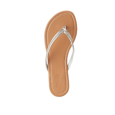 Crystal Strap Flip Flops