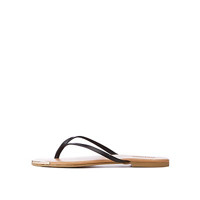 Metal Front Flip Flops