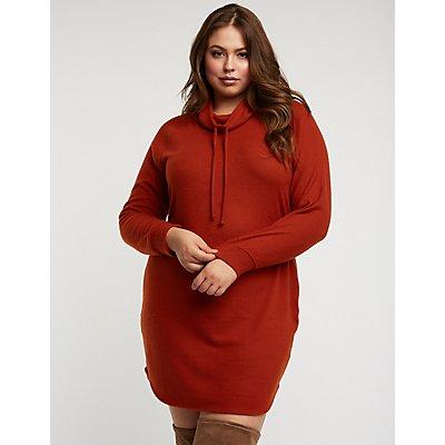 Plus Size Cowl Neck Sweater Dress