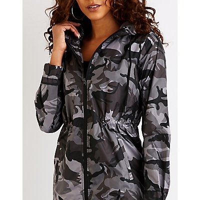 Camo Hooded Anorak Jacket
